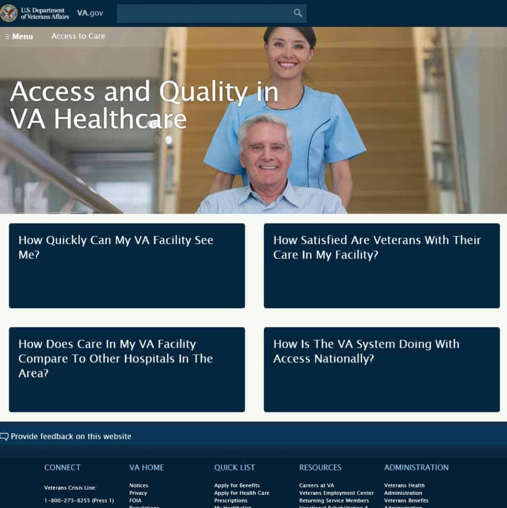 """Veterans Administration Launches """"Access and Quality in VA"""