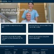Veterans Administration Launches Website