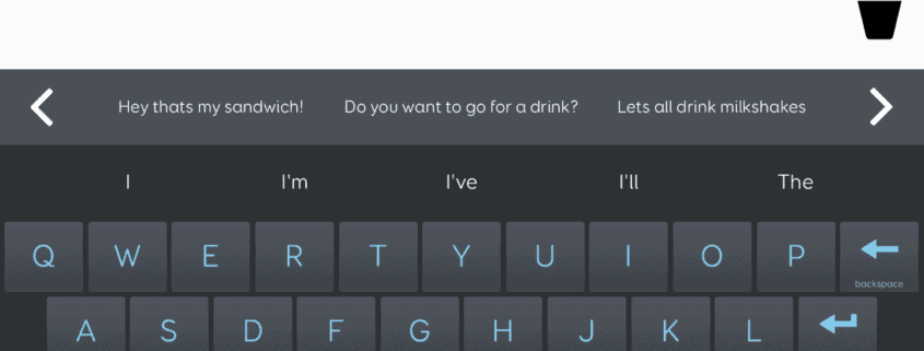 Grid for ipad - Text talker home